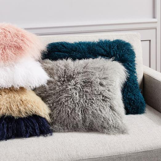Mongolian Lamb Pillow Covers -