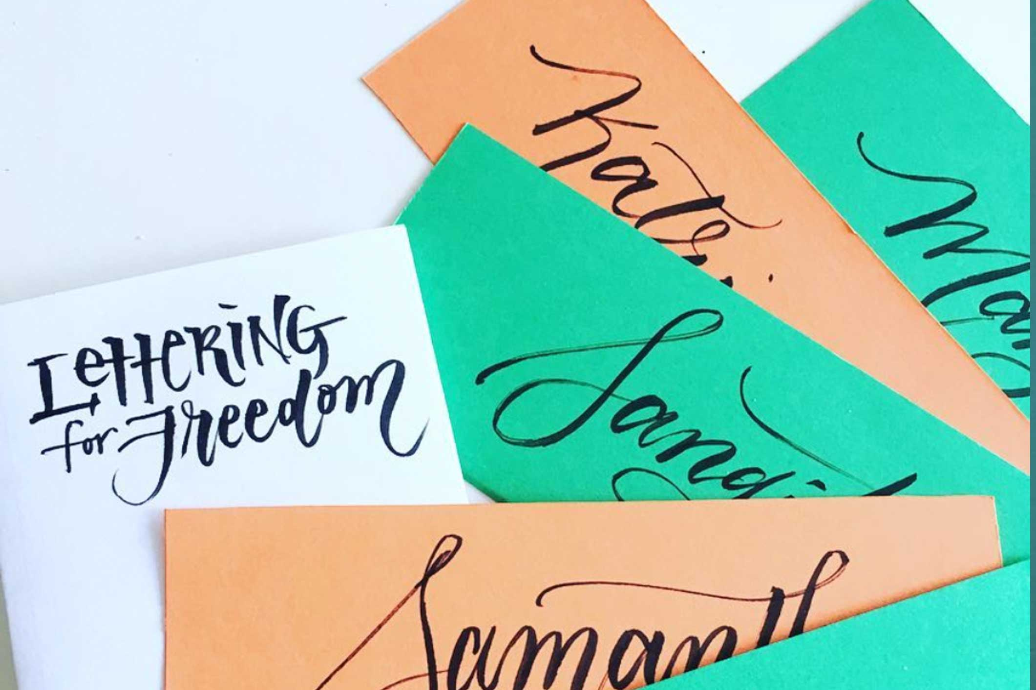 Special events - Interactive or personalized lettering at your special events to raise awareness and increase engagement.