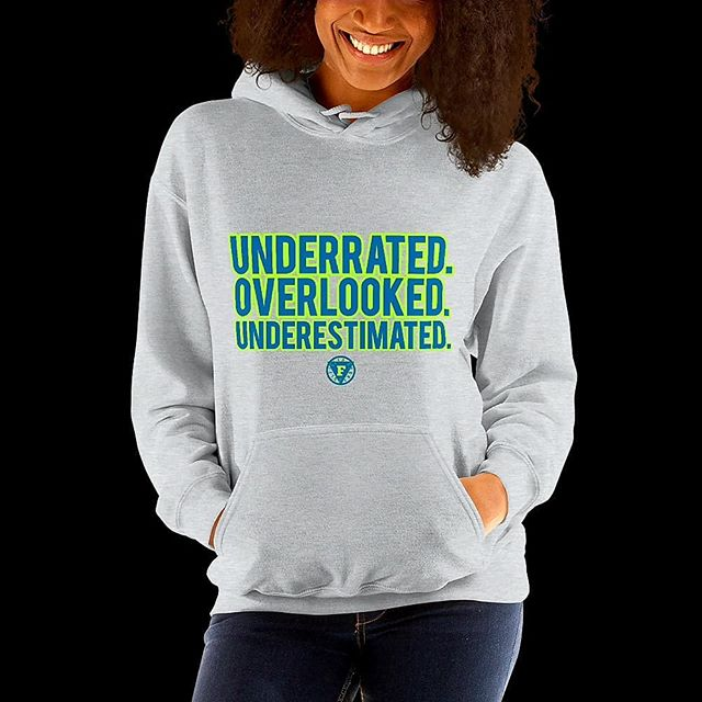 🛌 Underrated Hoodie now available on the website from our sports collection. (Link in bio)