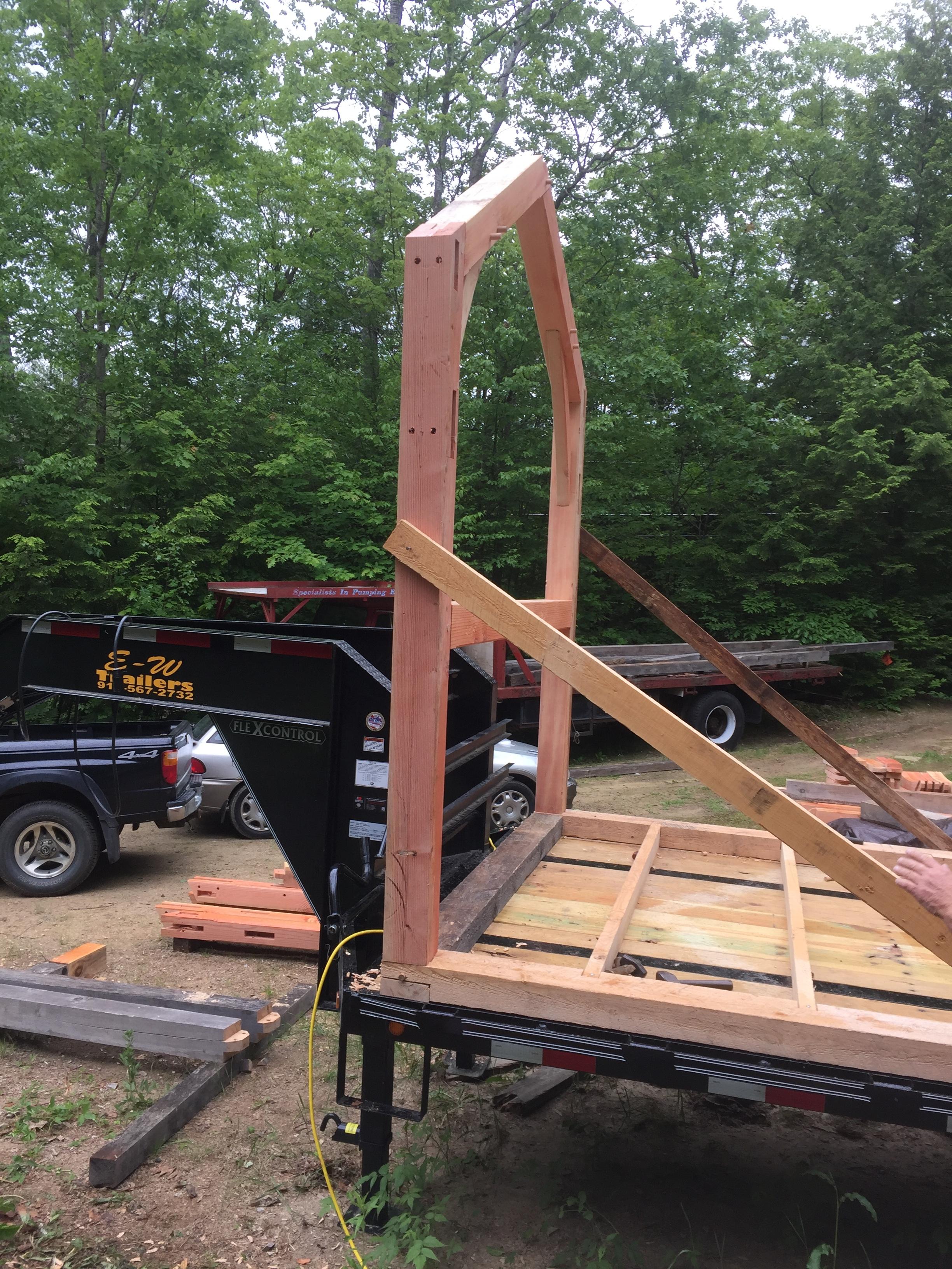 First Timber Frame Bent