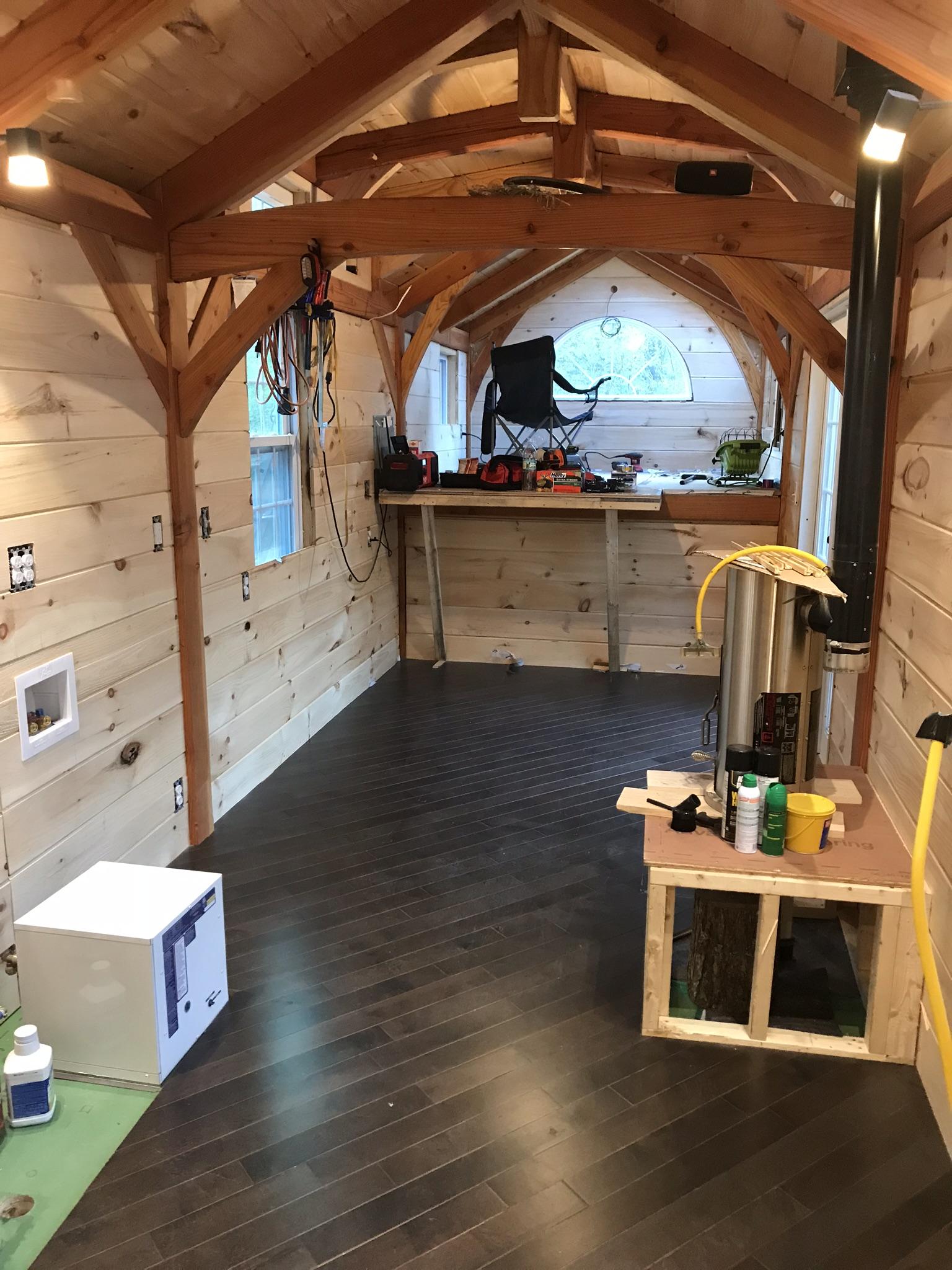 Finished kitchen flooring.