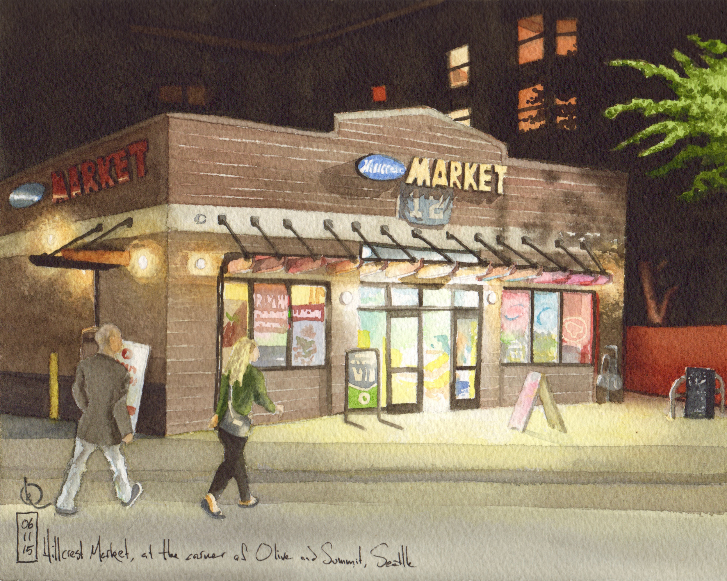 Hillcrest Market, on the corner of Summit and Olive, Seattle