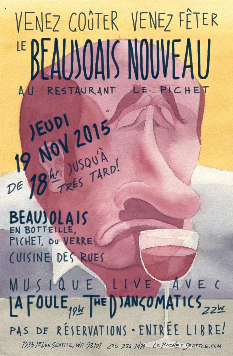 Beaujolais Nouveau 2015 (Yellow)