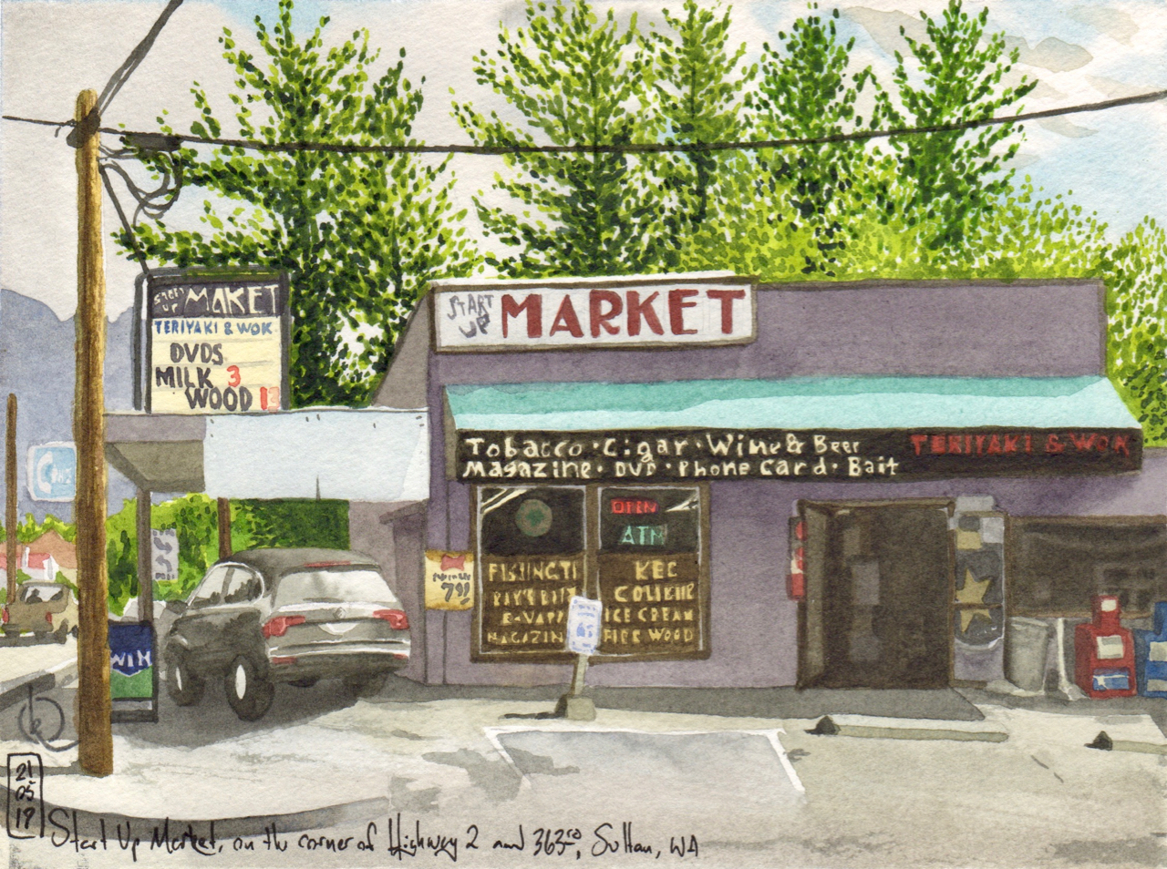 Start Up Market, on the corner of Highway 2 and 363rd Ave, Sultan, WA