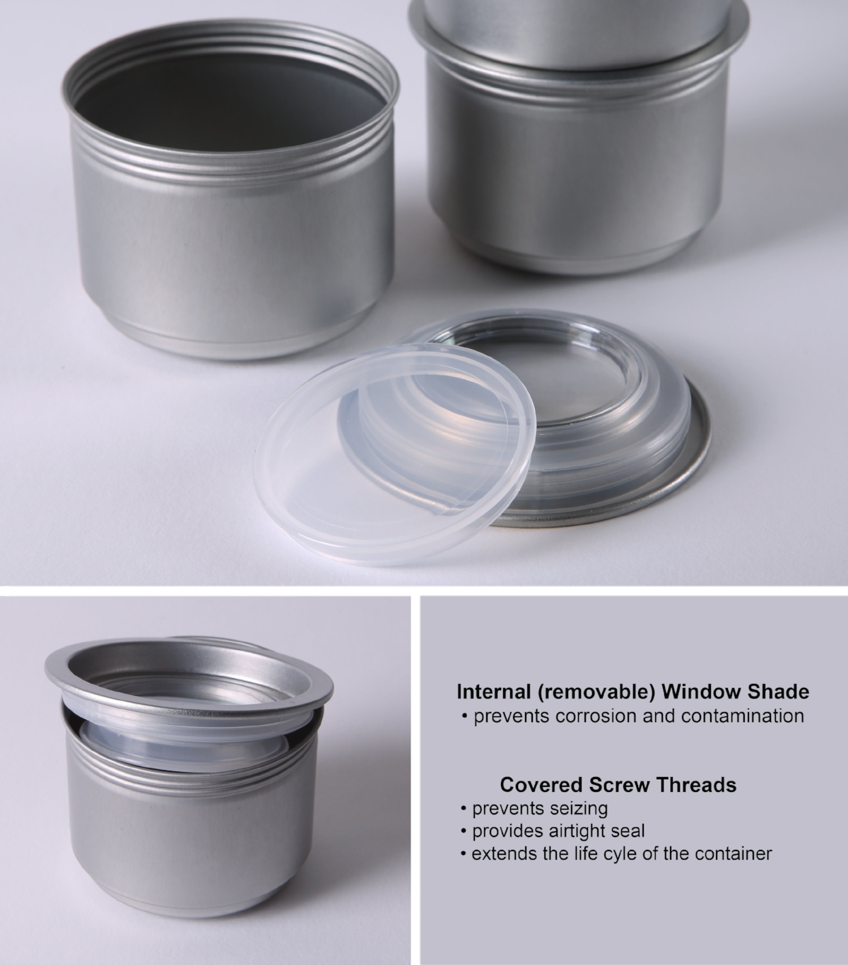 Inner Cap protects Window from Spice Corrosion