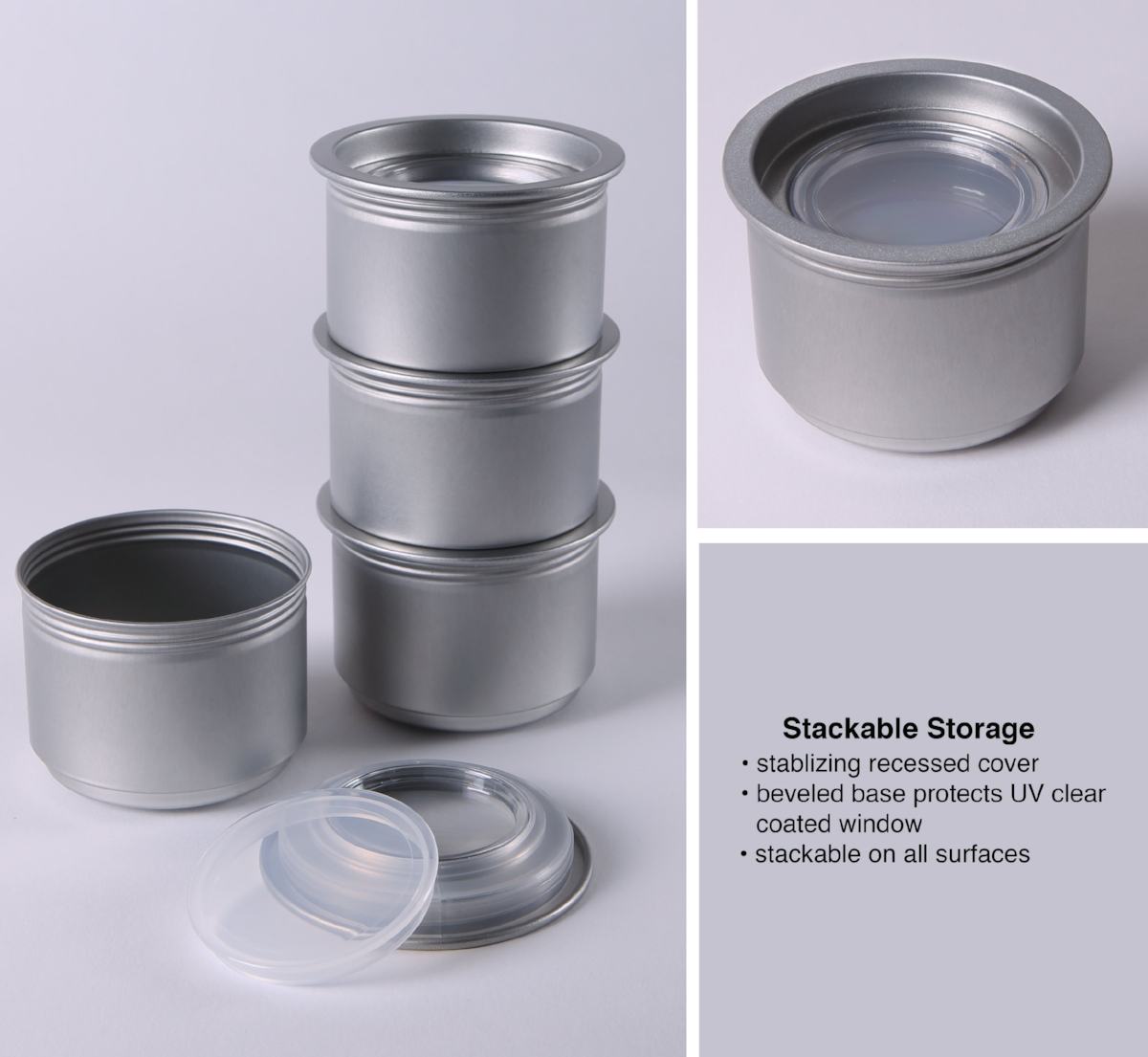Magnetic or Non-magnetic--both are Stackable