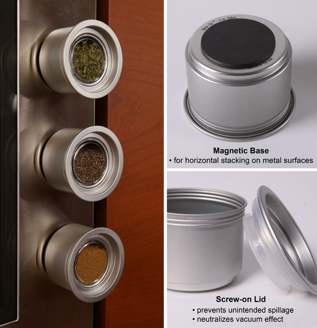 Easy Screw-on Lid gives Airtight Spice Storage