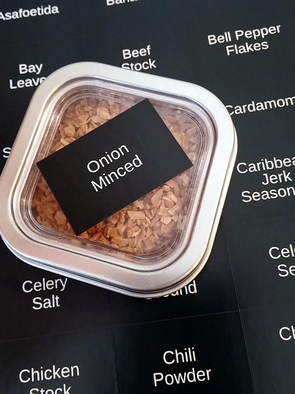 Black Spice Labels - rectangular