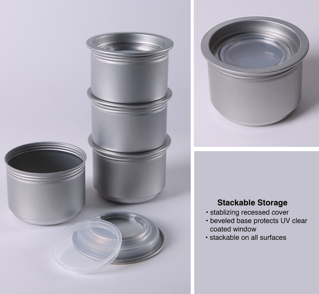 Stackable Spice Tins - Stable, secure, stackable spice tins