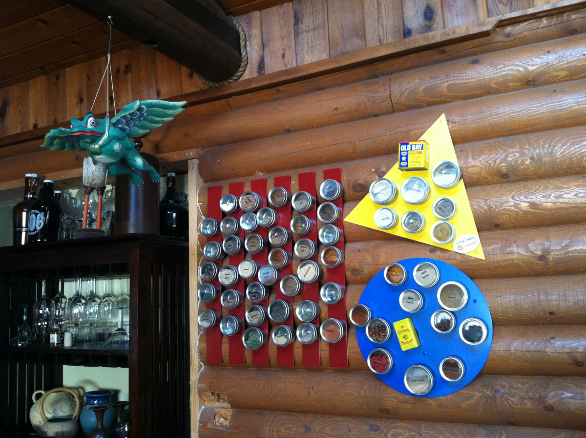 Crazy Log Cabin Spice Rack - by Jeannie C., Bozeman, Montana