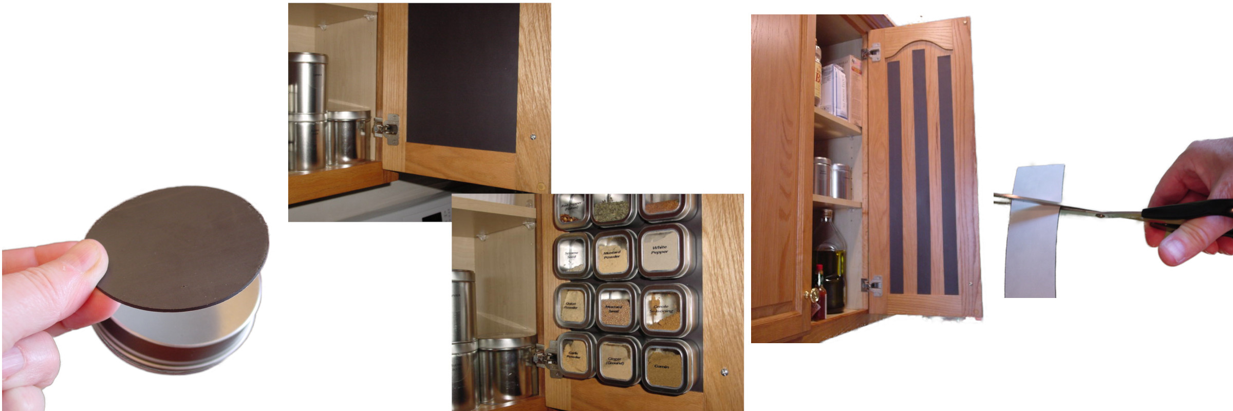 Versatile Flexible Magnet - Customize your Spice Storage