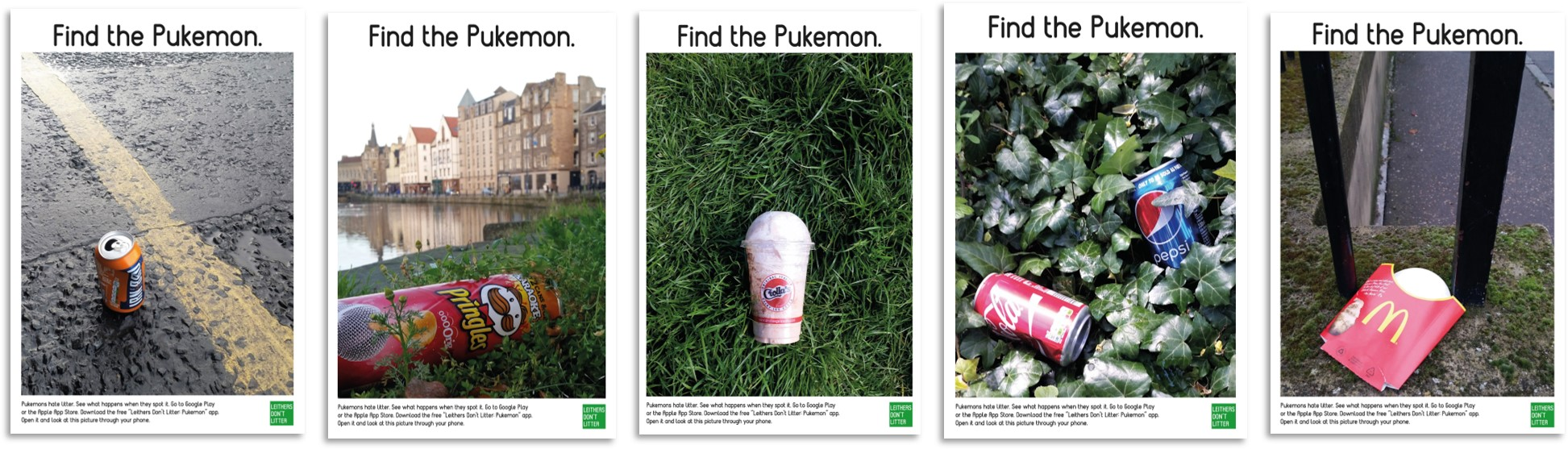 The Pukemons are hiding in these posters. Click on the photo to download the posters.