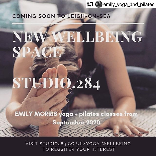 #repost @emily_yoga_and_pilates ・・・ Exciting things happening from September! Coming soon to Leigh-on-Sea, a beautiful new wellbeing space within @studio.284 where I will be teaching weekly Yoga and Pilates classes. To register your interest click the link in my bio ✨ look out for the launch party in August 💗 #yoga #Pilates #wellbeing #workspace #studio284 #leighonsea #newclasses #september #essexyoga #pilatesessex #essexmums #essexentrepreneurs #selfemployed #wellness #selfcare #yogastudio #pilatesstudio #backcare