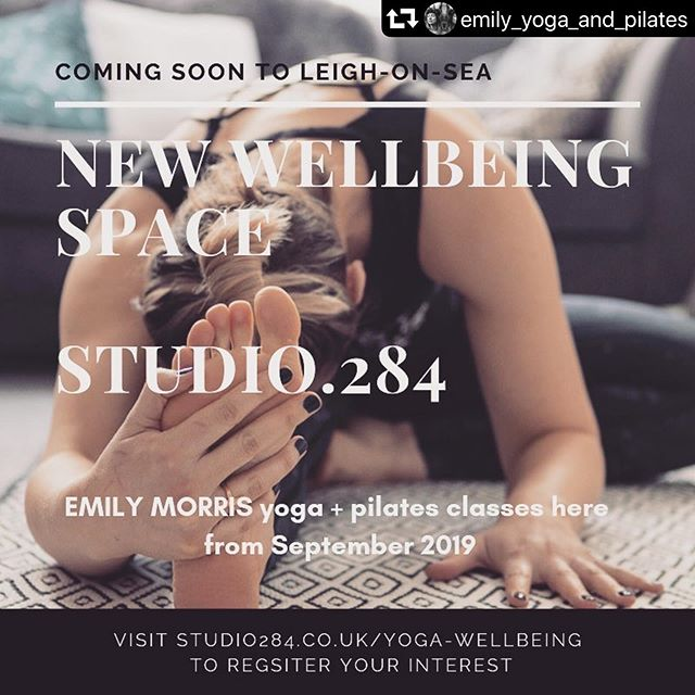 We are soooooo looking forward to the arrival of @emily_yoga_and_pilates  #repost @emily_yoga_and_pilates ・・・ Exciting things happening from September! Coming soon to Leigh-on-Sea, a beautiful new wellbeing space within @studio.284 where I will be teaching weekly Yoga and Pilates classes. To register your interest click the link in my bio ✨ look out for the launch party in August 💗 #yoga #Pilates #wellbeing #workspace #studio284 #leighonsea #newclasses #september #essexyoga #pilatesessex #essexmums #essexentrepreneurs #selfemployed #wellness #selfcare #yogastudio #pilatesstudio #backcare