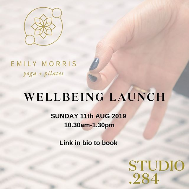We are excited to announce the launch of Emily Morris' new weekend wellbeing classes at our own studio 284!  Sunday 11th AUG 2019  10.30am-1.30pm  Emily Morris Yoga + Pilates is dedicated to your wellbeing and Studio 284 is a perfect sanctuary for those who enjoy a smaller class size where you receive more individual support.  Join us and experience what Emily has to offer with taster yoga and pilates classes for all levels, followed by delicious plant-based food provided by Wild Health.  Experience wellbeing within this beautiful new studio space, you will leave feeling uplifted, relaxed and brimming with radiance.  Spaces Limited to 6 guests per session - Booking Essential  Link in bio to book!  @emily_yoga_and_pilates #emilymorris #yoga #pilates #wellbeing #relax #weekendwellbeing #sanctuary #studio284 #leighonsea #essex