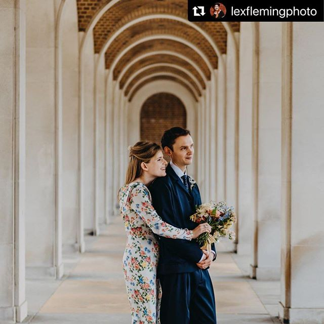 "Our newest member @lexflemingphoto  indulging her Wes Anderson! :) #Repost @lexflemingphoto with @make_repost ・・・ These arches made all my #wesanderson goosebumps go at #hertfordregistryoffice. Luckily Ondine & Fred ""got it"" and allowed me to have a crazy 10 minutes of lines, and framing and symmetry! ❤️ #creativecoworking #coolweddingphotographer"