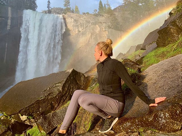 yes this is real 🌈 BY FAR the most beautiful place I've been! #yosemite