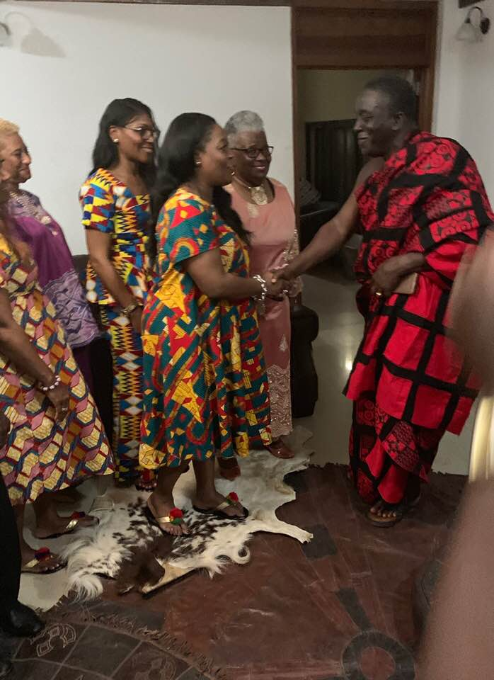 Meeting the Paramount Chief  of the Ashanti Tribe