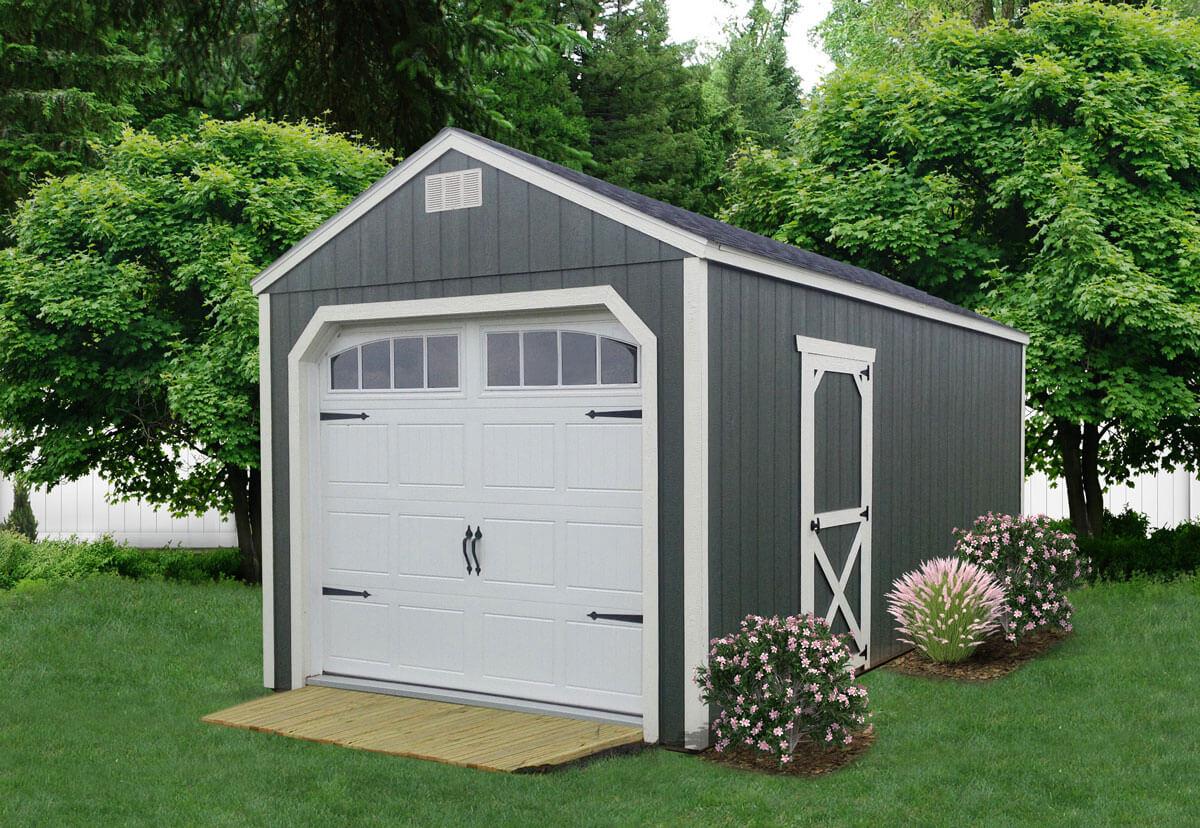Painted Utility Garage