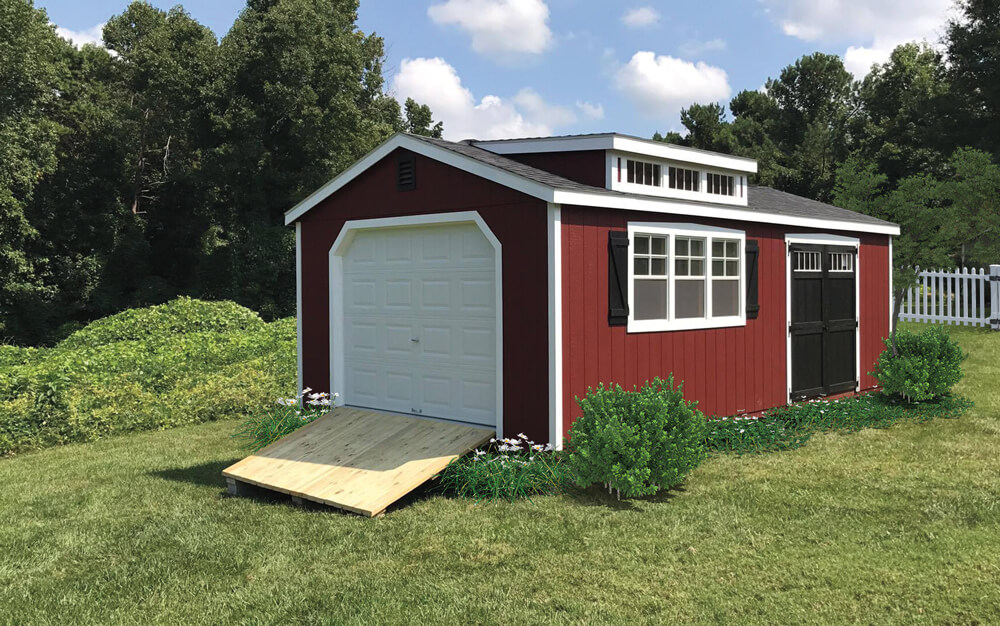 Painted Southern Classic Garage