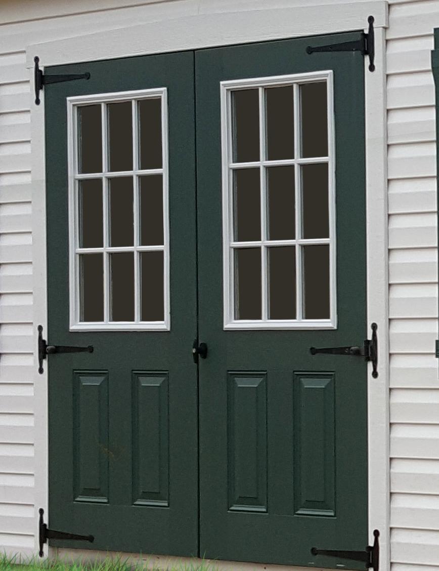 Add 9-Lite Glass to Fiberglass Door $100 per door