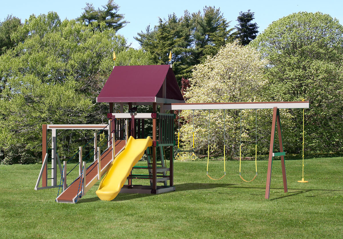 Dimensions: 27' L x 18.5' W Floor Height = 5' Swing Height = 8'
