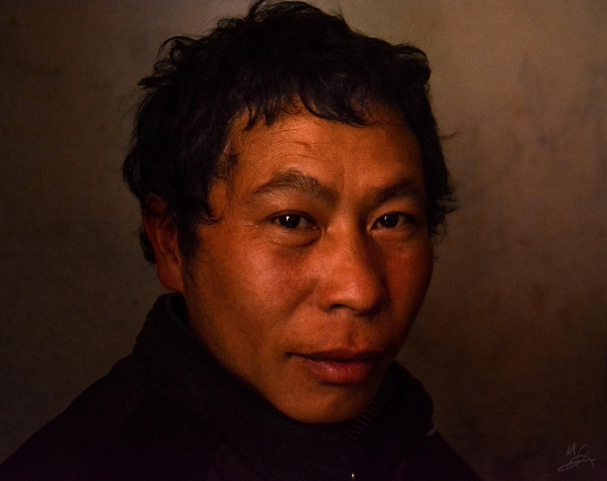 Man with rice wine