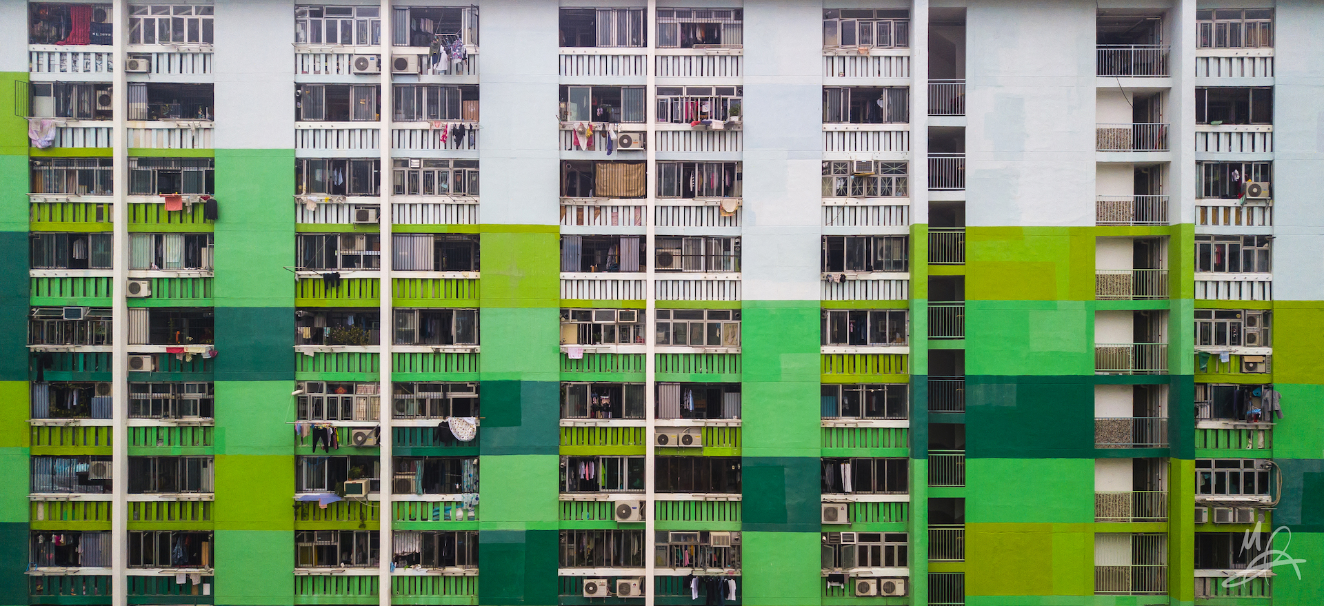 Hong Kong public housing estate - landscape 1/5