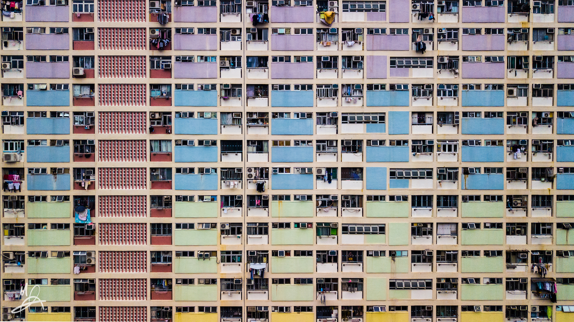 Hong Kong public housing estate - landscape 2/5