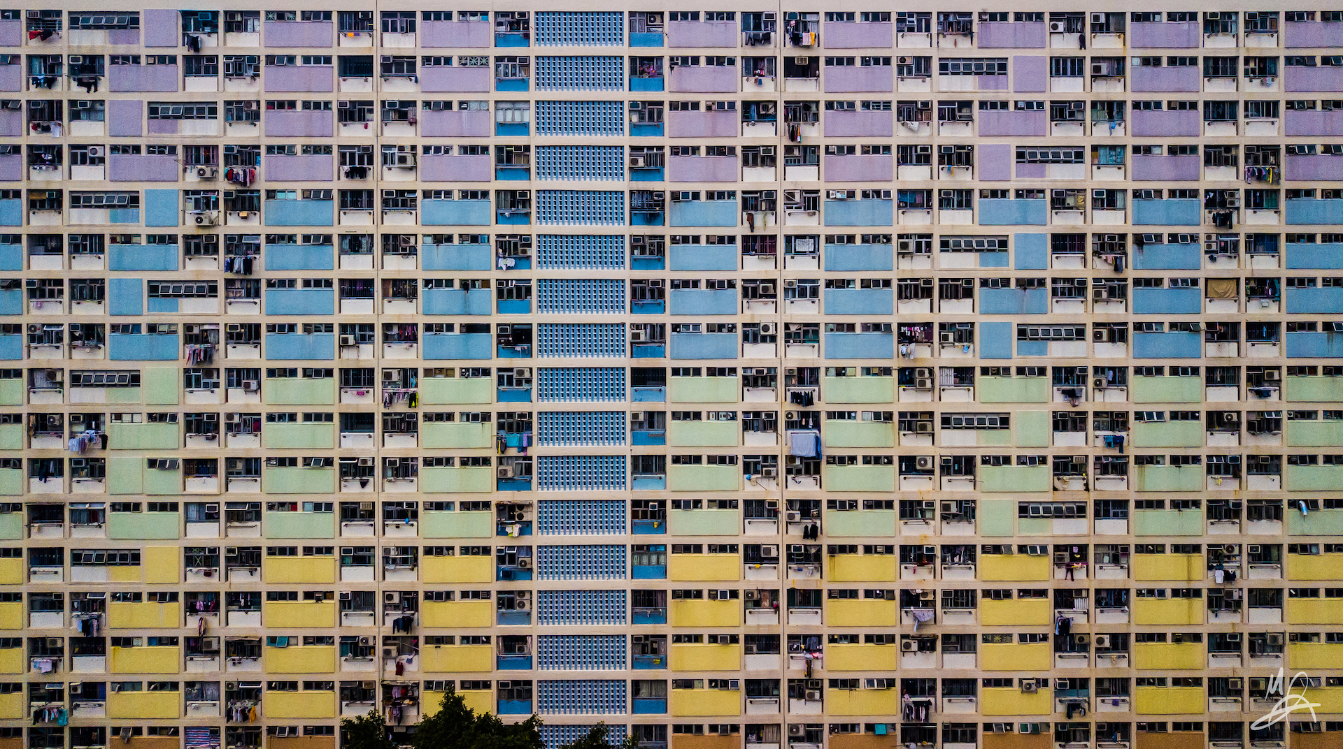Hong Kong public housing estate - landscape 3/5