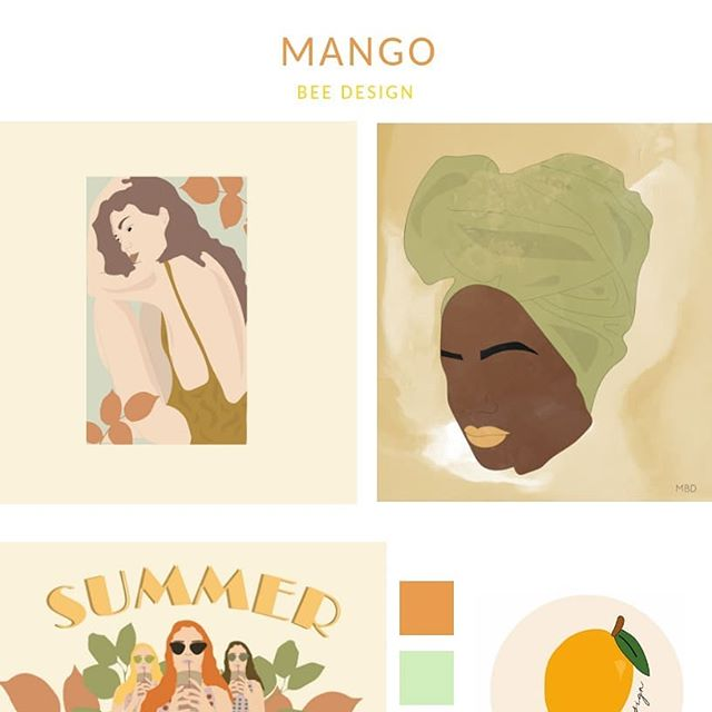We're working on some magic when it comes to the brand + design and creativity behind the amazing aesthetic & online space of @mangobeedesign 🍃🥭 – She's a brilliant graphic designer & illustrator based in the South of France and we can't wait for you to see everything 😍😌🧡