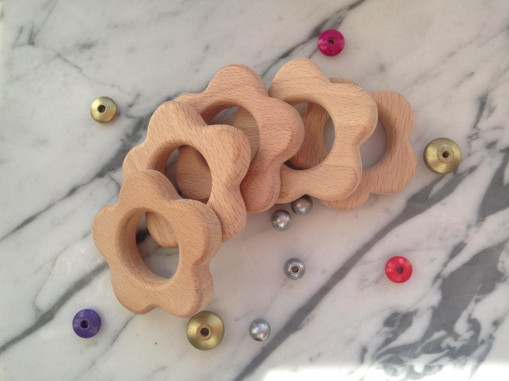 Wooden flower ring