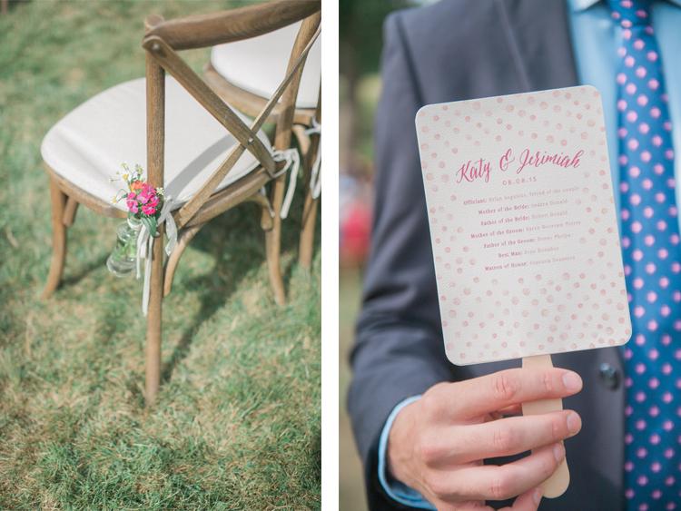 Wedding Fan Programs Watercolor by Patti Murphy Designs // Connecticut Wedding