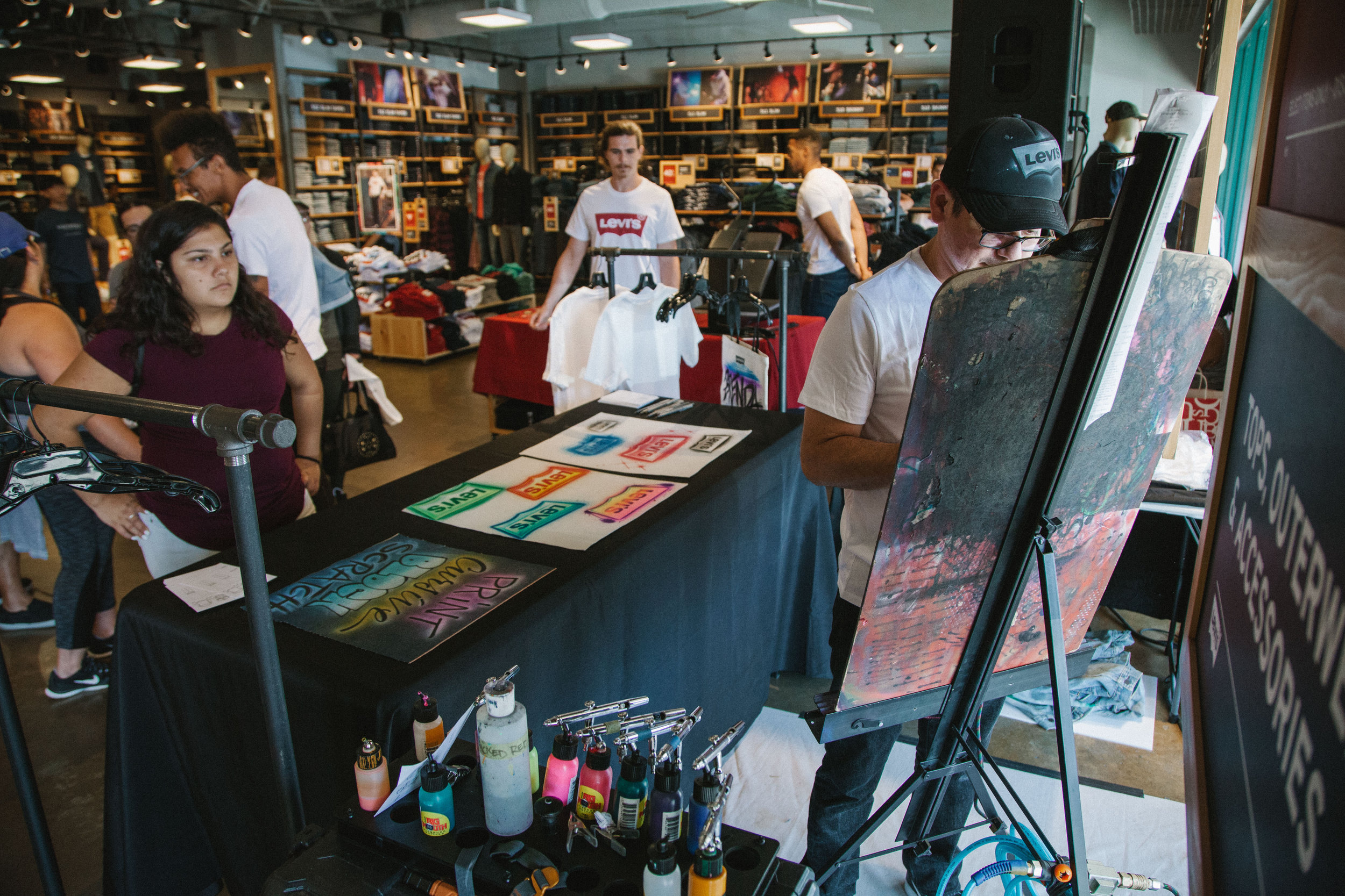 Levi's airbrush back to school event Camarillo