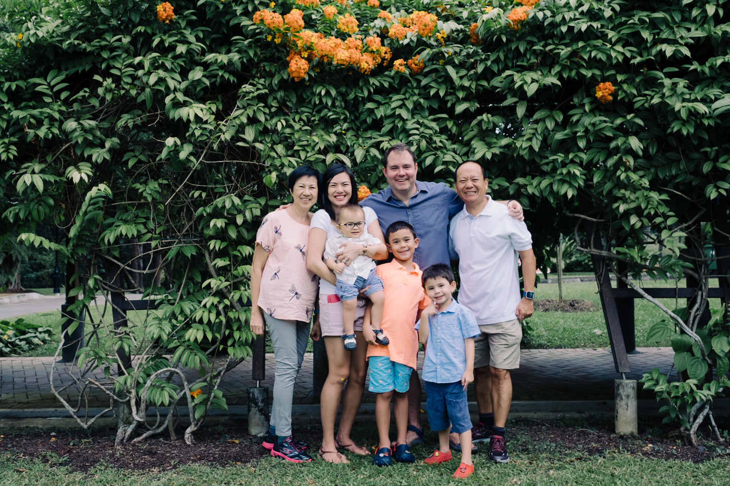 Kwek Family - Christopher Jackson & Joy Kwek take their family out for an afternoon walk and get some portraits taken at the same time.