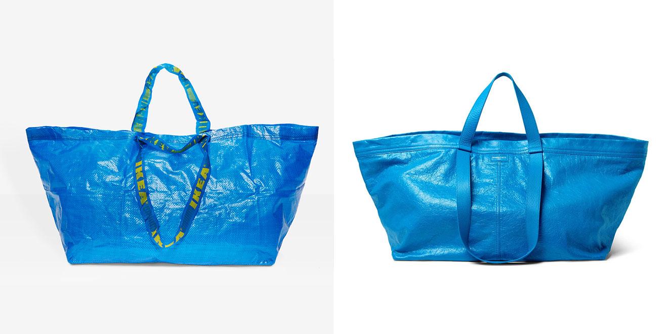 Frakta, borsa di plastica blu di Ikea vs borsa Balenciaga