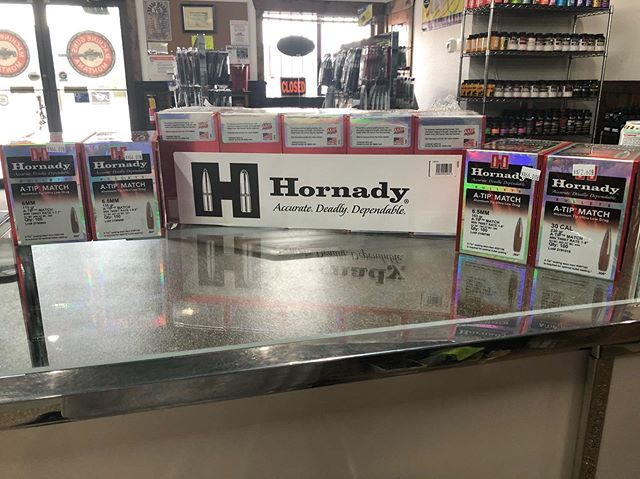 New at the shop!!! Hornady A-Tip bullets!!! Holy cow 🐄 they are here!!!! #bullets #hornady #reloading #2a #guns #gunsandammo #machinegunsmt #ATip #local #kalispell #montana