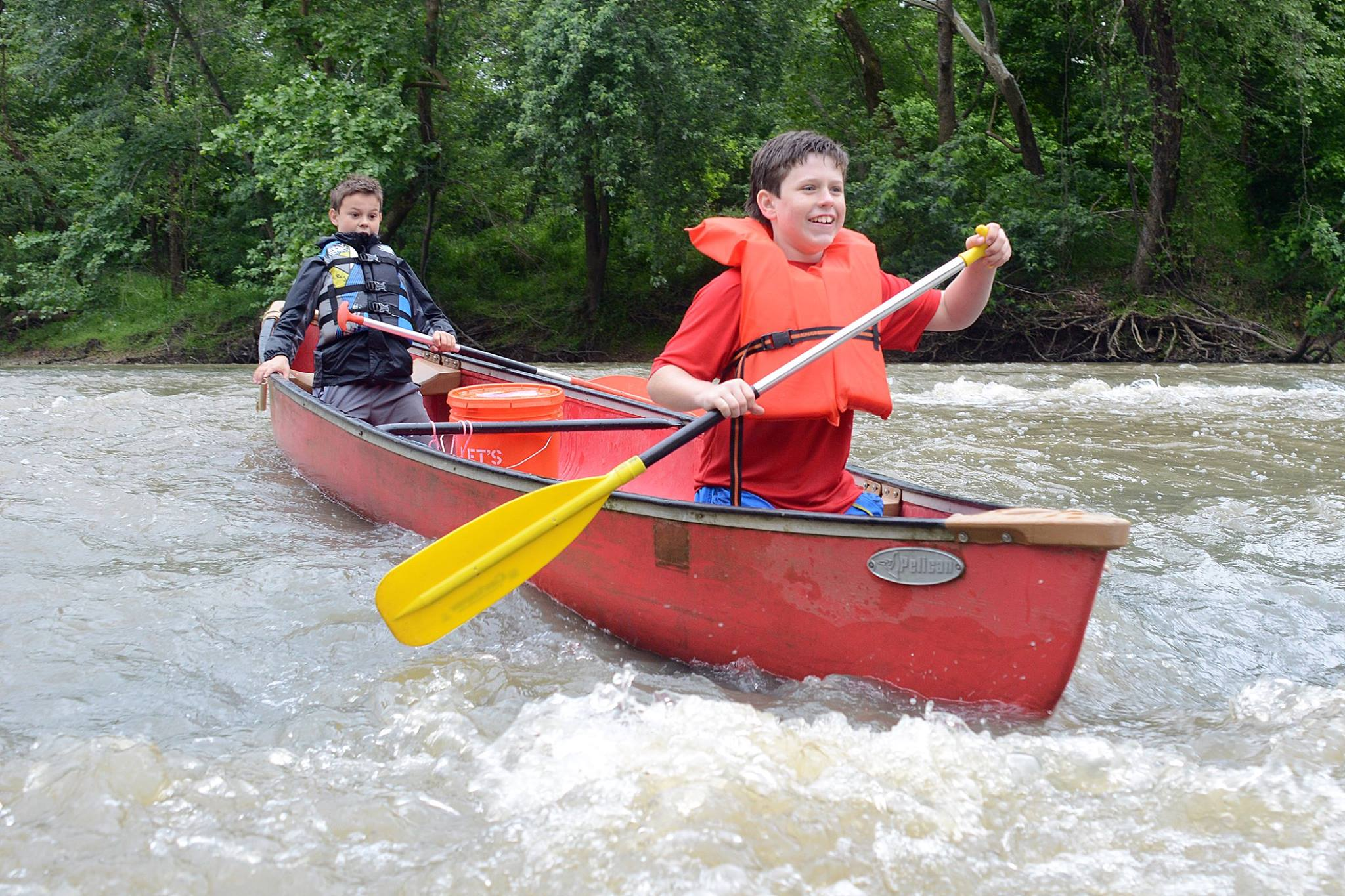 We canoe.