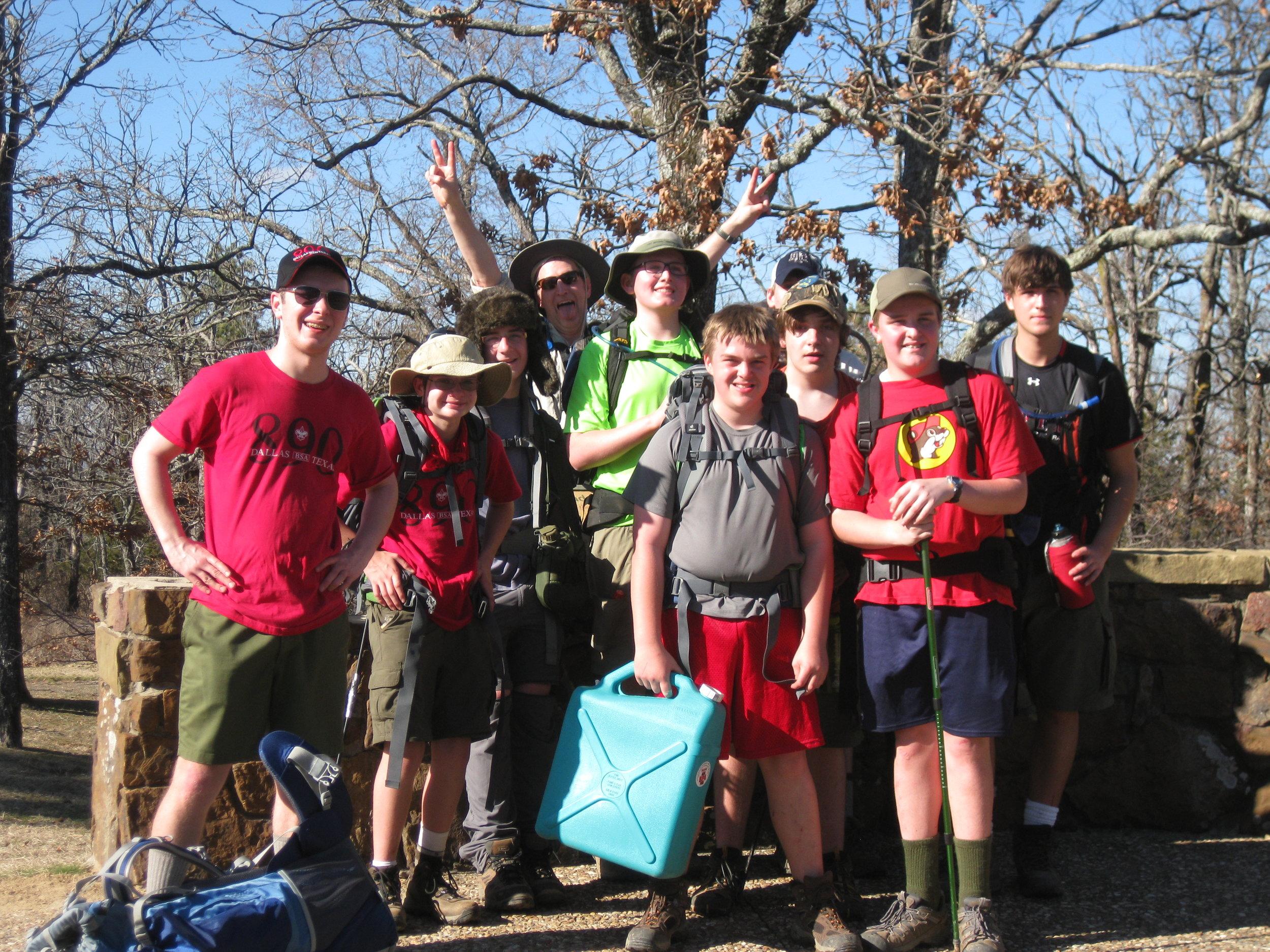 - We hike 50 miles during Spring Break.