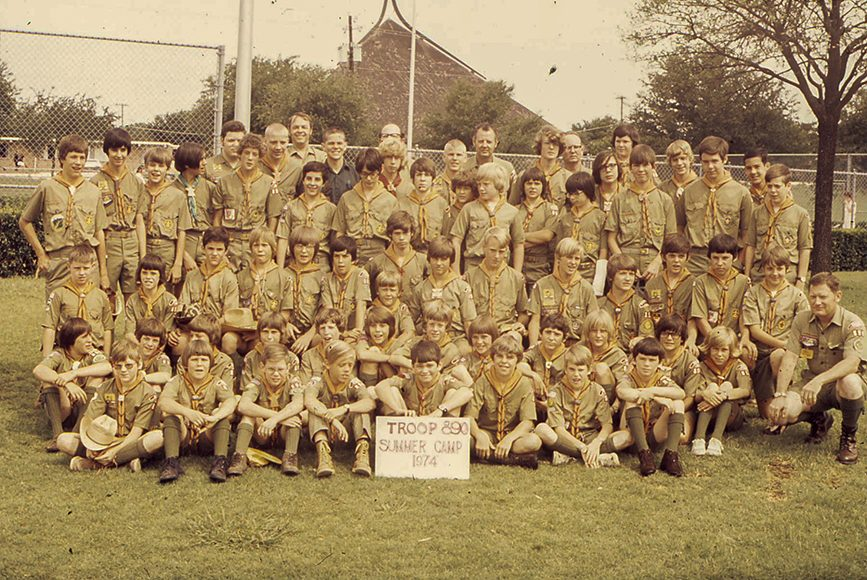 The Troop getting ready to head to Camp Constantin for summer camp in 1974. A much smaller group back then…