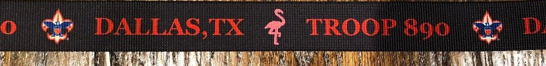 Our customized belt with flamingoes…purchase for $20 under the Payments tab