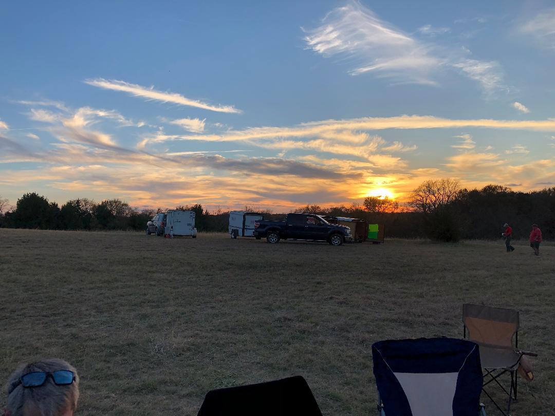 - Saturday evening sunset.