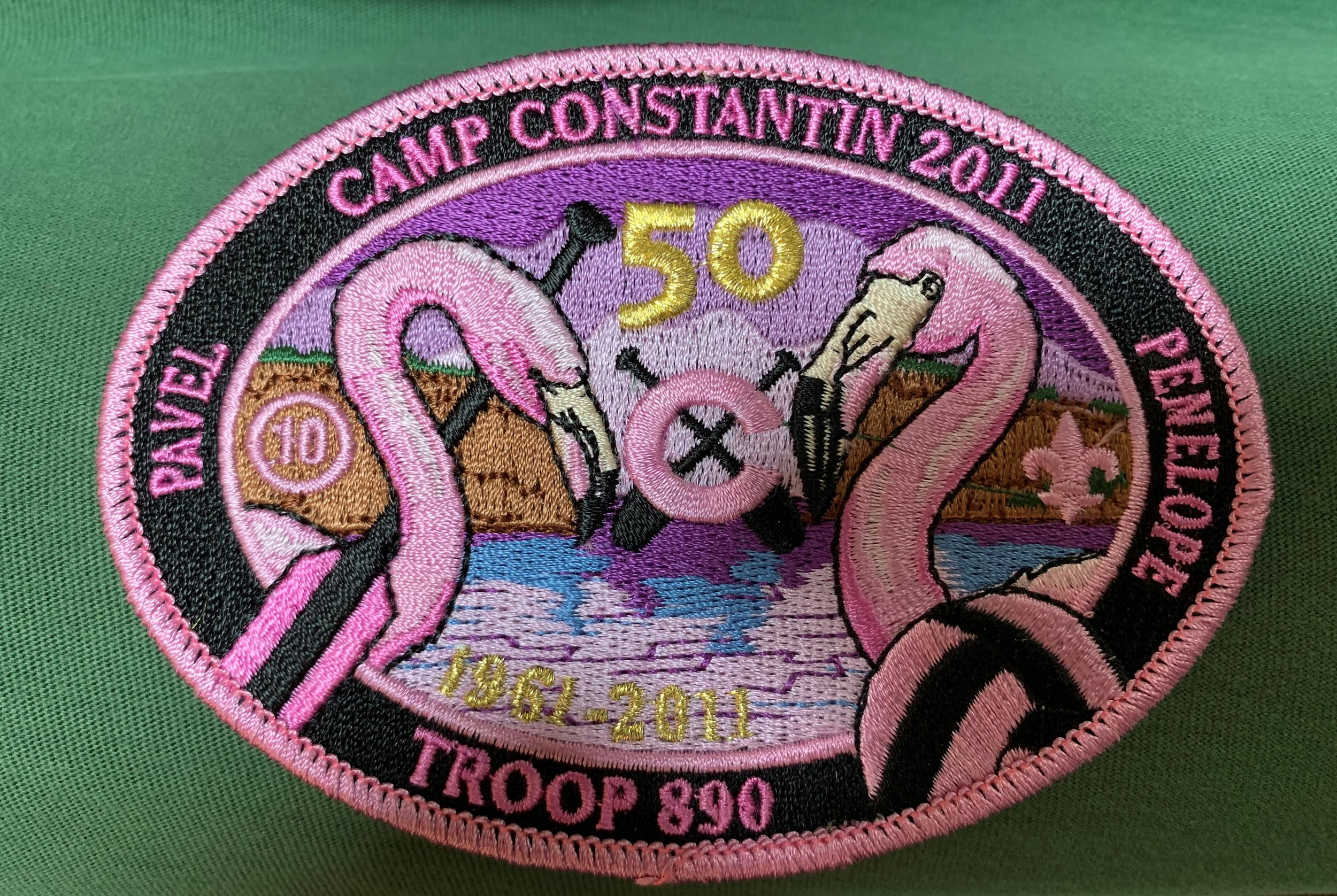 - 2011the first year with gold threading - also our Troop's 50th anniversary