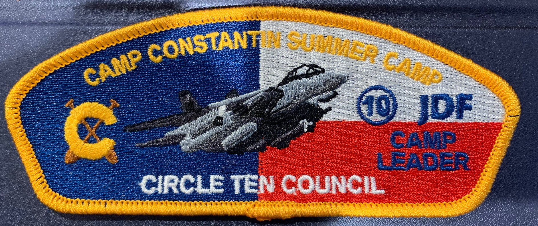 This year's Camp Leader council strip — the camp theme was Top Gun…