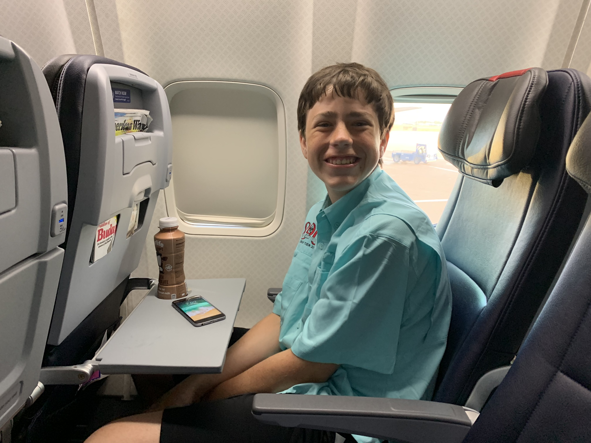 Max's first time on an airplane!!!!