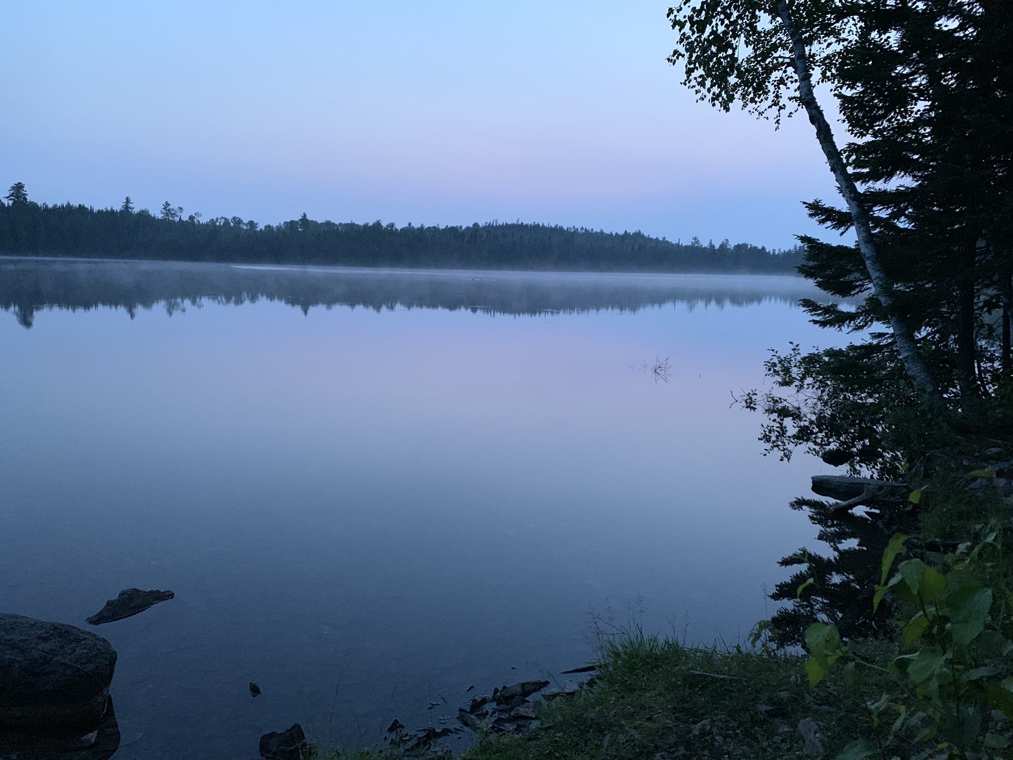5:09 am on Birch Lake with loon in distance