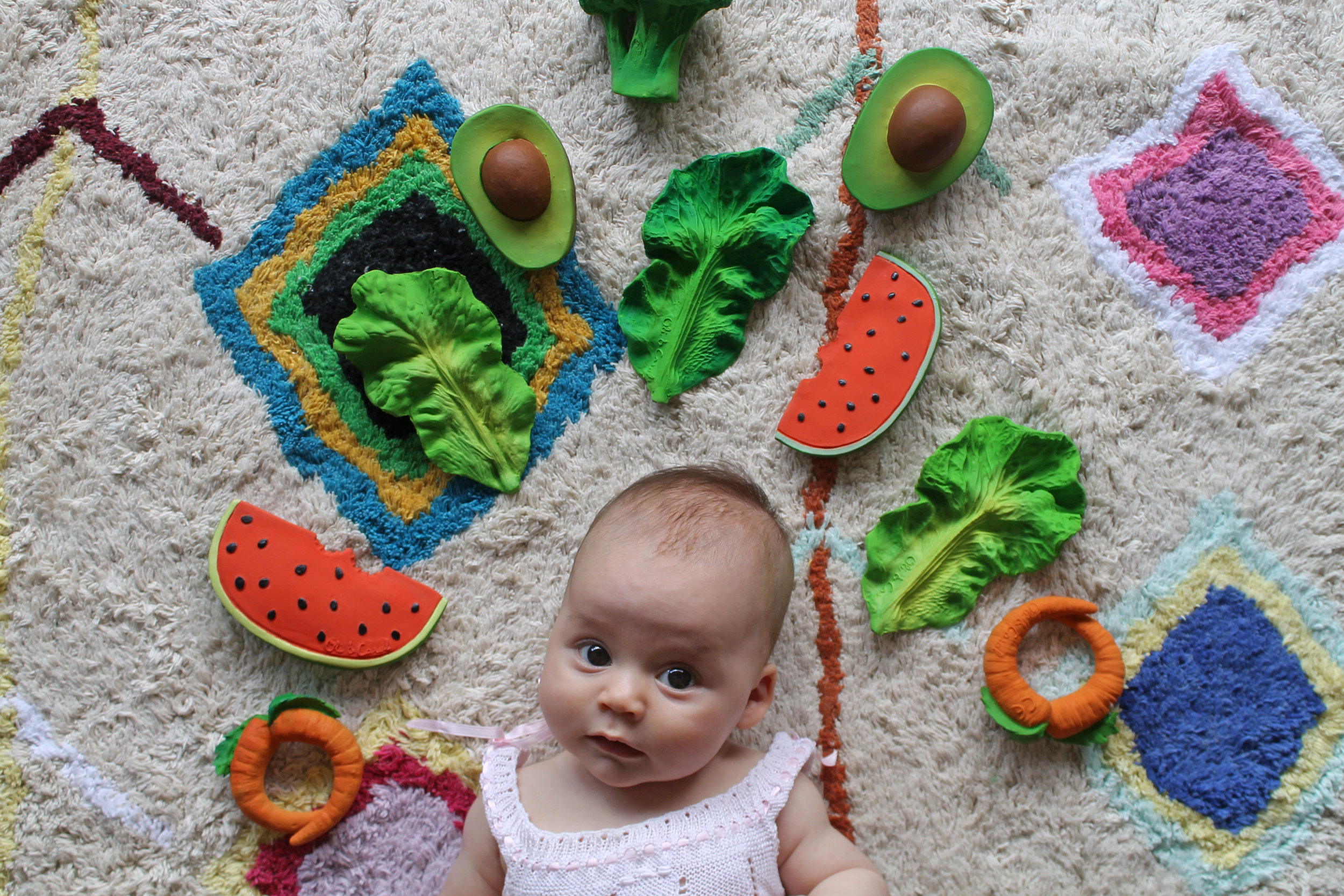 Oli & Carol - Funky Natural Rubber Teethers and Bath Toys<<< Click on Image to see our full range