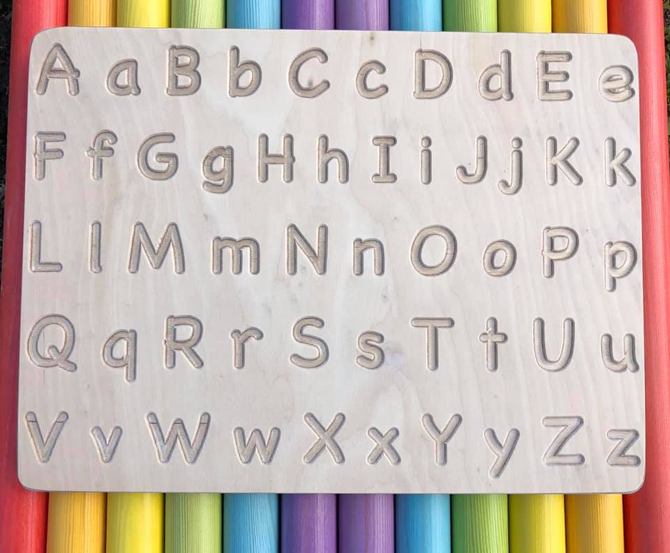Sawdust & Rainbows Alphabet Board