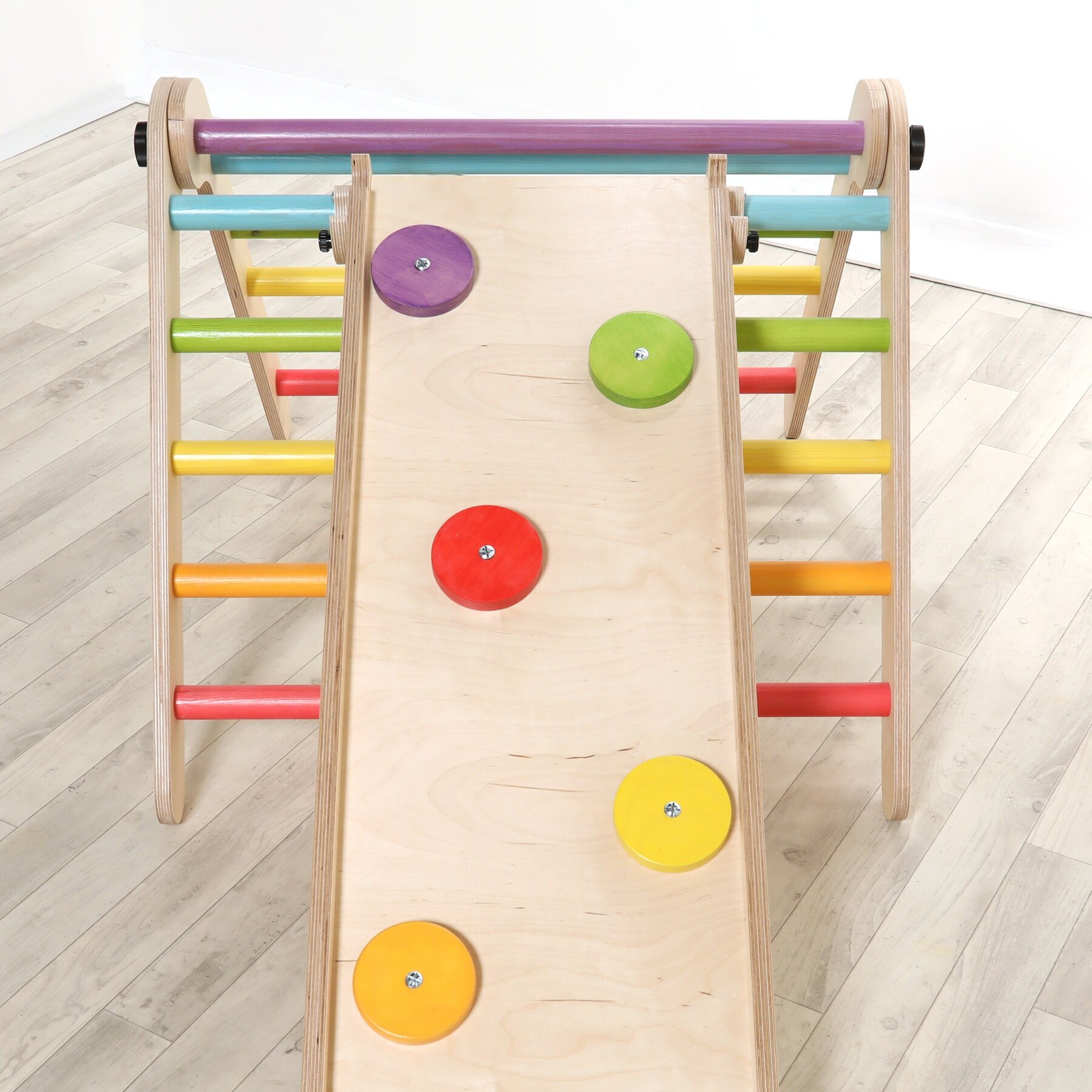 Sawdust & Rainbows - Indoor Climbing frames inspired by the concept of a Pikler triangle. Encourage movement, balance and dexterity with a Handmade Piece from Sawdust & Rainbows<<< Click the image to see our Products