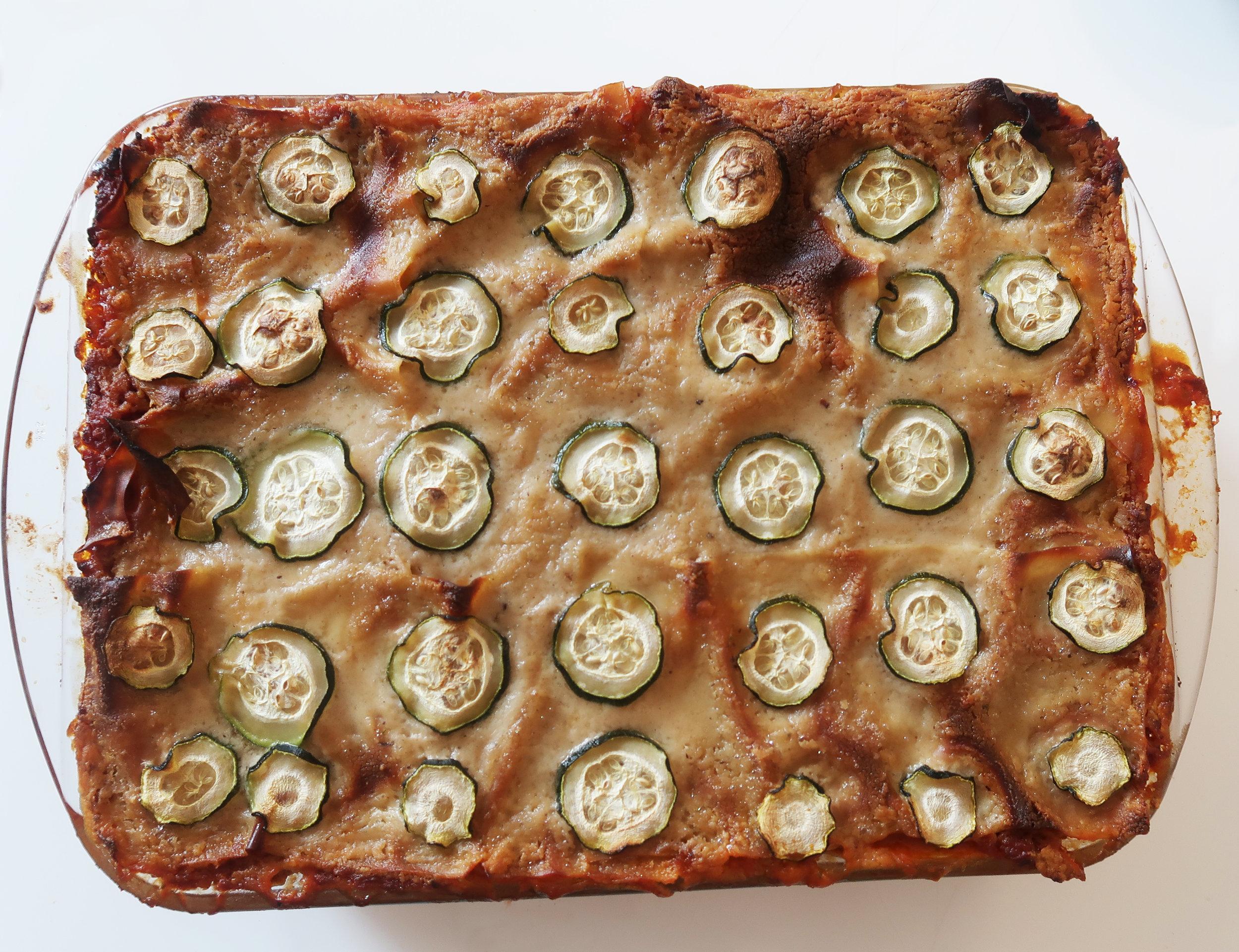 Glutenfri klassisk vegansk lasagne